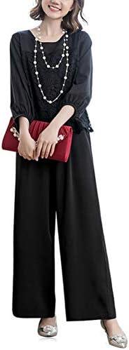 [해외]Foucome 파티 드레스 팬츠 설치 여성 바지 정장 바지 정장 큰 소매 고 팬츠 드레스 2 점 세트 앙상블 정장 여성 정장 심플 여성용 정장 상하 세트 2 차회의 피로연 웨딩 긴 팔 / Foucome Party Dress Pants Set Up Ladies Pants Pants Suit Large Si...