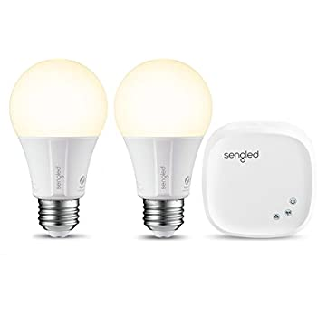Element Classic by Sengled - Starter Kit (2 A19 bulbs + hub) - Soft White 2700K Smart LED, Works with Alexa & Google Assistant