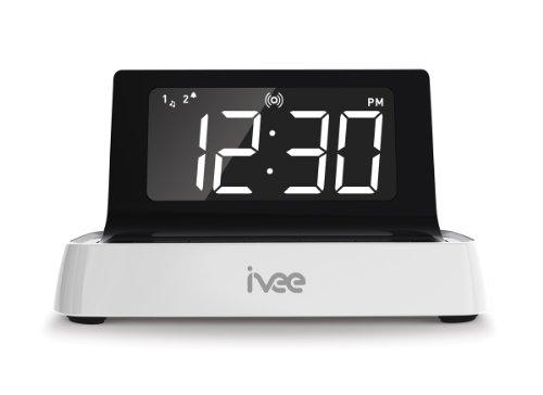 ivee Digit: Voice-Activated Alarm Clock, White