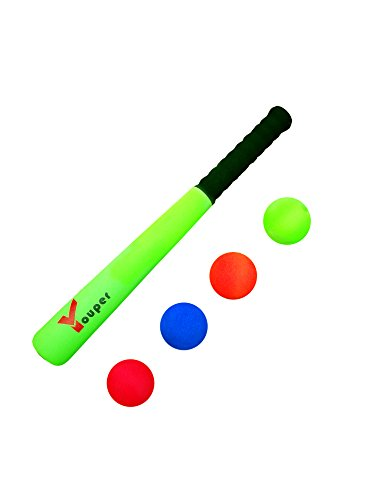 Youper Super Safe Foam T Ball Bat for Toddlers, Mini Baseball Bat and Ball Toys, 16.5 inch by Youper