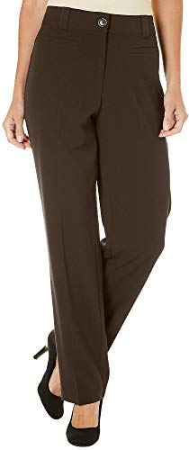 (Counterparts Womens Bi-Stretch No Gap Pants 16 Chocolate brown)