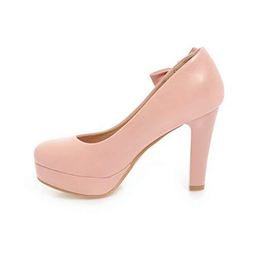 Pink Beaded APL10632 BalaMasa Bows Shoes Womens Urethane Platform Pumps HATU8
