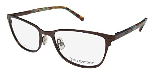 Juicy Couture Metal Rectangular Eyeglasses 51 0YLG Semi Shiny Brown