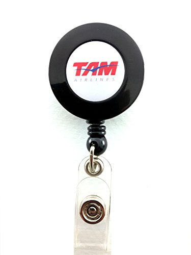 tam-airlines-yo-yo-id-card-badge-holder-retractable-reel-jj-lanyard-airlines-logo