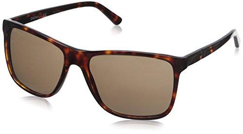 DKNY Women's 0DY4127 Square Sunglasses, Havana, 58 mm