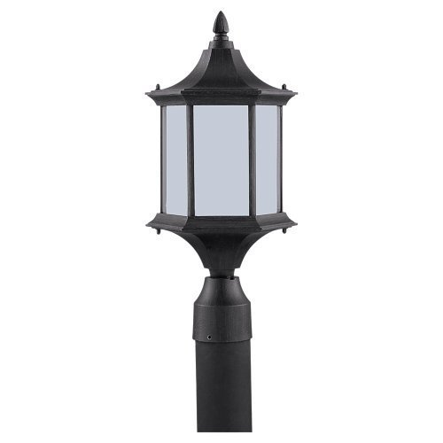 Sea Gull Lighting 89236BL-08 Ardsley Court - One Light Outdoor Post Lantern, Textured Rust Patina Finish with Etched Glass by Sea Gull Lighting