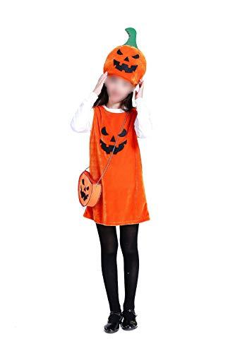 Halloween Children's Costumes Girls Pumpkin Cloak Magician's Cloak(A,M)