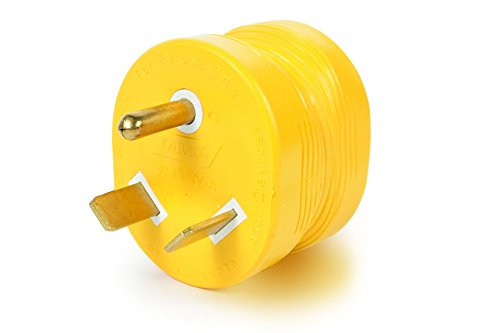 Price comparison product image Camco PowerGrip Durable Electrical Adapter - Easy Grip for Simple and Safe Use, 30 AMP Male 15 AMP Female (55233)