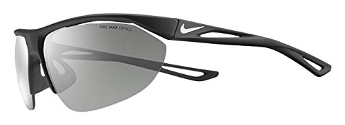 NIKE EV0983-011 Tailwind Swift R Sunglasses (Frame Speed Tint with ML Extra White Lens), Matte Black/White ()