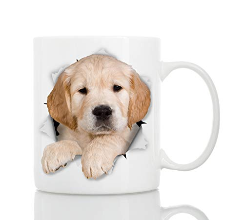 Golden Retriever Mug - Ceramic Funny Coffee Mug - Perfect Dog Lover Gift - Golden Retriever Coffee Mug - Great Birthday or Christmas Surprise for Friend or Coworker, Men and ()