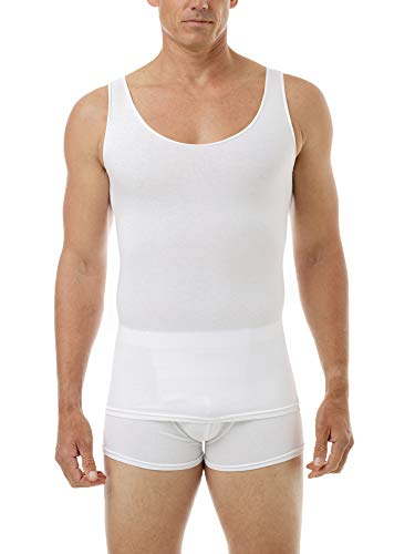 Underworks Mens Cotton Spandex Compression Tank 3-Pack, XLarge, White by Underworks (Image #3)