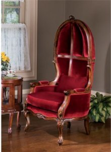 Hand Carved Solid Mahogany Luxury Balloon Chair For Sale