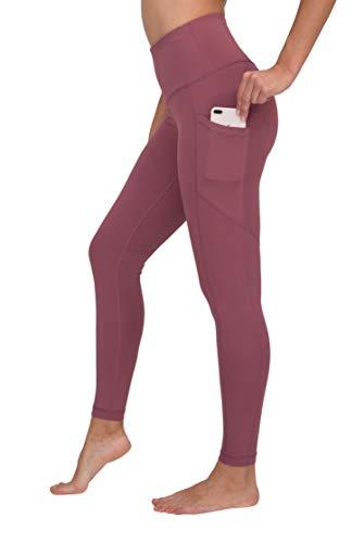 Large Truffles - 90 Degree By Reflex High Waist Interlink Yoga Pants - Cherry Truffle - Large