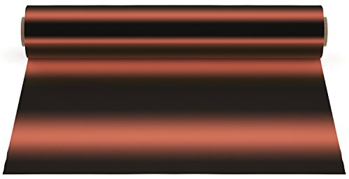 (Firefly Craft Elastic Foil Copper Heat Transfer Vinyl | Metallic Copper HTV Vinyl | Copper Foil Iron On Vinyl for Cricut and Silhouette | 5 Feet by 12.25 Roll | Heat Press Vinyl for Shirts)