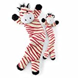 Hugglehounds Holiday Zebra Red Candy Cane Striped Dog Toy, Large, My Pet Supplies