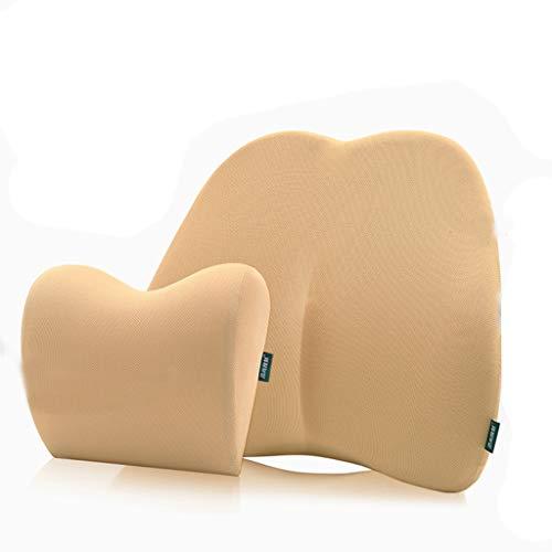 Seat Cushion Headrest Set, Memory Reclining Car Cushion Pillow Patio Chair Swing Chair Wheelchair Seat by Asdfooo (Image #6)