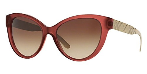 Burberry BE4220 357613 Matte Red BE4220 Cats Eyes Sunglasses Lens Category 3 - Red Burberry Sunglasses