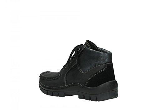 Cuero única Negro para Wolky Size de 38 One Náuticos Talla Mujer Enqq4ROT