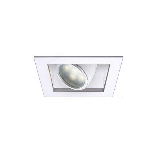 WAC Lighting MT-LED118F-WWHS-WT LED Multiple Spot Housing for MTLED118, White color Finish, Color Temperature-3000K