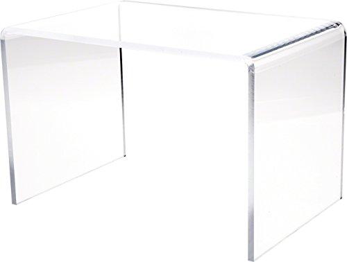 Plymor Clear Acrylic Rectangular Display Riser, 8 H x 12 W x 8 D 1 4 Thick