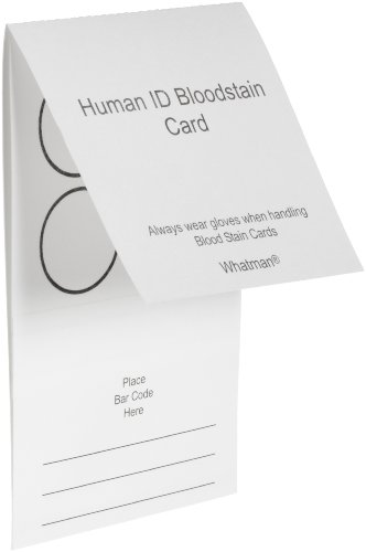 - Whatman WB100014 Bloodstain Card (Pack of 100)