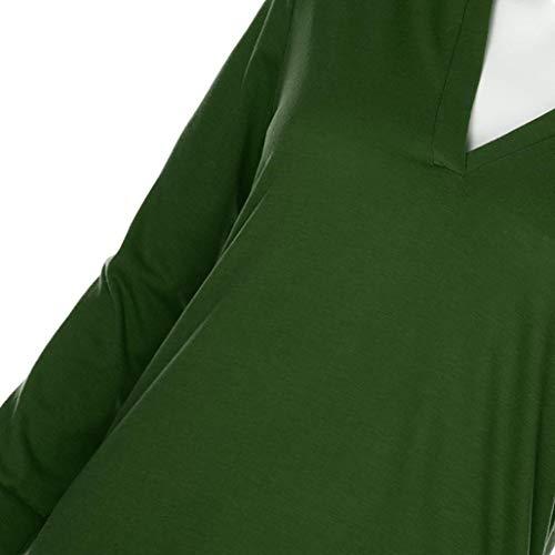 Tunisien Portefeuille Col Vert toiles Manche Kanpola Militaire sans Chemisier Femme Women fp7qqPxS