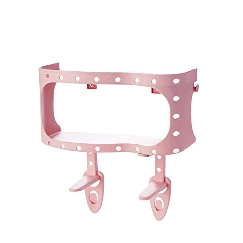 LiPing Suction Cup Bathroom Shelves For Toiletries Shower Gel Practical Type Non-trace Stick Wall Bathroom Accessories Decorations (Pink, - Dress Bubble Abs