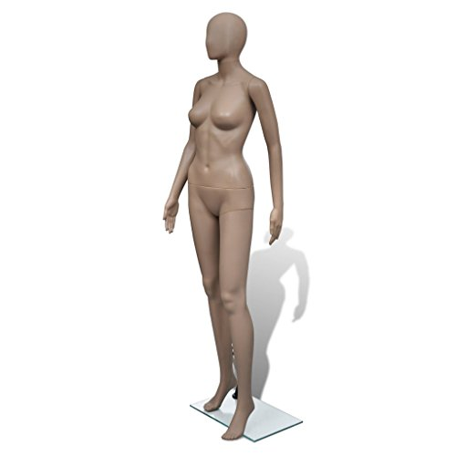 Daonanba Practical Full-body Woman Mannequin Round Head for Fashion Cloth Store by Daonanba