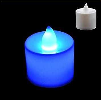 Nueva luz LED azul de la vela creativa, luz de las velas de ...