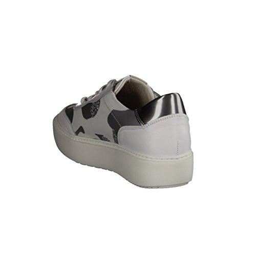 DL SPORT Camouflage 3422-487- Damenschuhe Sneaker, Weiß, Leder/Textil, Absatzhöhe: 30 mm