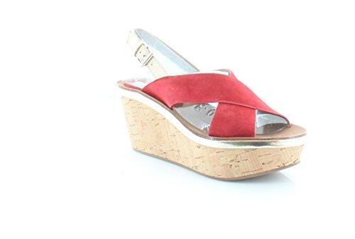 Diane von Furstenberg Maven Women's Sandals & Flip Flops Vibrant Red Size 6 M