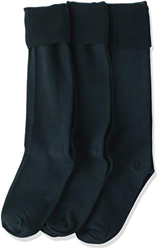 (Jefferies Socks Little Girls'  School Uniform Knee High  (Pack of 3), Hunter, Small)