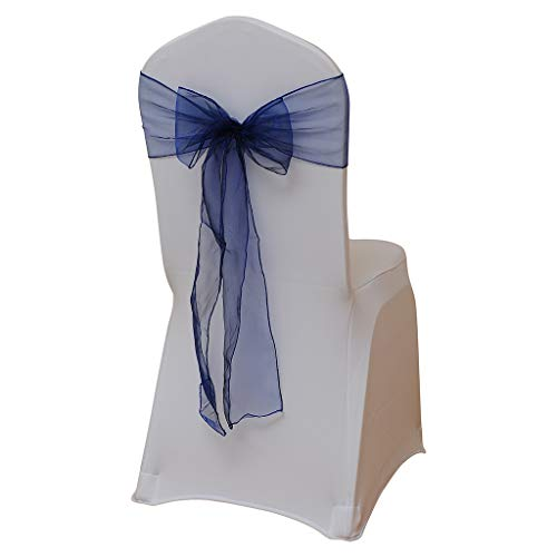 AMOFINY Home Textiles Flower Bow Chair Back Cover Net Sash Back Ties Elegant Party Decor Multi-Color