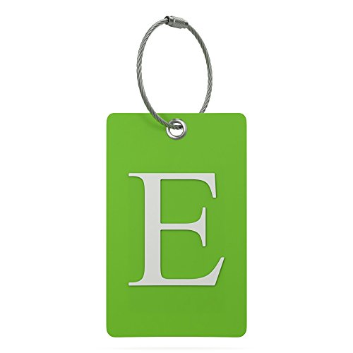Luggage Tag Initial - Fully Bendable Tag w/ Stainless Steel Loop (Letter -