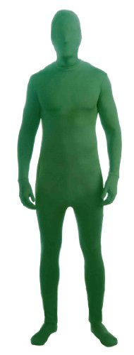 [Forum Novelties Men's Disappearing Man Solid Color Stretch Body Suit Costume, Green, Medium/Large] (Green Man Body Suit)