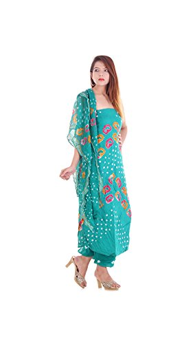 (Apratim Women Cotton Printed Salwaar Kameez Dupattas Unstiched Set)