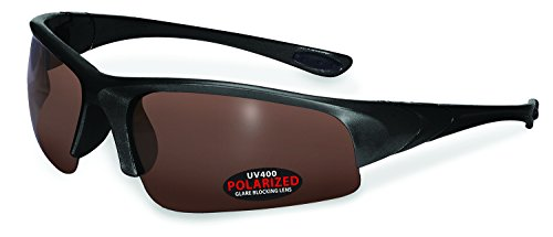 Specialized Safety Products CHEWUCH BLK BRZ Unisex Polarized Sunglasses with Bronze Lenses, - Sunglasses Specialized