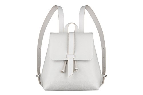 Leather White backpack, leather mini backpack, Leather Tote bag, women bag, woman small backpack, handmade backpack, women white backpack, school backpack by Author leather accessory
