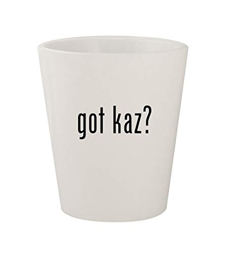 got kaz? - Ceramic White 1.5oz Shot Glass