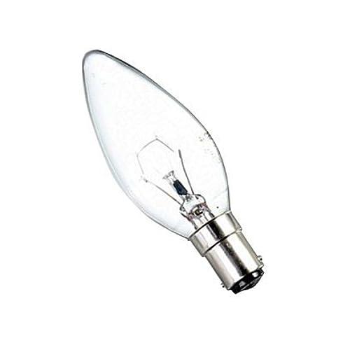 Premium brand Lot de 10 ampoules B15 à baïonnettes en forme de flamme 25W