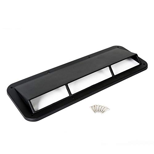 ECOTRIC Hood Scoop Ram Air Vent Scoop Ram Air Induction 13307.01 for Jeep CJ Wrangler YJ 1978-1995 ()