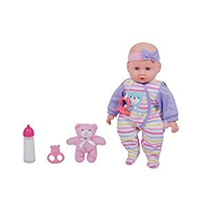 "DREAM COLLECTION 14"" Baby Doll Maggie with Teddy"
