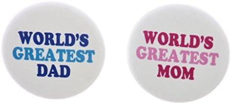 World/'s Greatest Dog Mom 2.25 Pinback Button