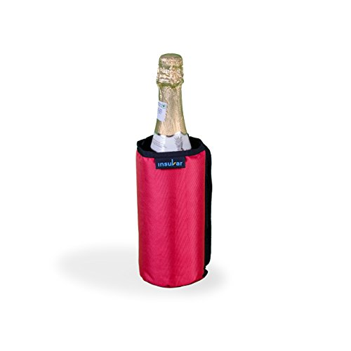 Insular Wine and beverage Cooler Sleeve (Red) - Keep wine,champagne,beers & beverage cold on the go without Gel Pack  Portable Insulated wrap is perfect for Parties,BBQ,Picnics&Outdoor ()