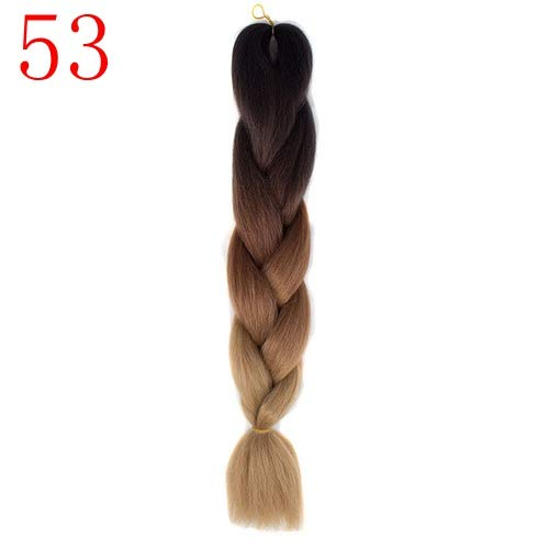 Synthetic Braiding Hair Crochet Blonde Pink Blue Grey Hair s Jumbo Braids T4/27/30 24inches ()