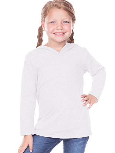 (Kavio! Toddlers Long Sleeve Pullover Hoodie White 4T)