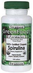 100% certifié bio Spiruline 500 mg 180 Tabs