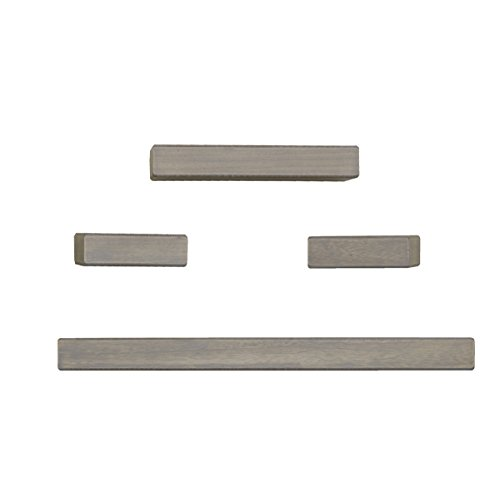 MELANNCO Floating Wall Mount Thick Chunky Shelves, Set of 4, Distressed Grey