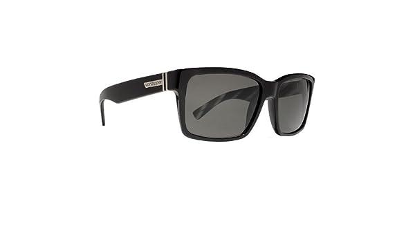 e93dfac534 Amazon.com  VonZipper Elmore Men s Casual Sunglasses - Color  Black Gloss Vintage  Grey