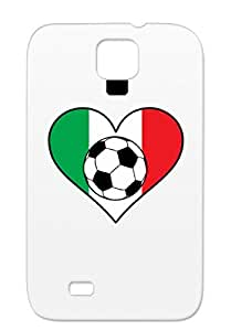 Skid-proof White For Sumsang Galaxy S4 World Cup Italian Cities Countries Flags Flag Love Italy Football Soccer Ball Heart TPU Case Cover